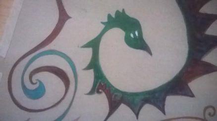 Mias bild grön orm
