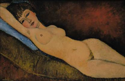 Amedeo Modigliani, Nu Couché au coussin Bleu