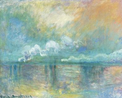 Monet Charing Cross Bridge, fumée dans le brouillard