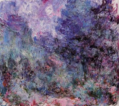 the-house-seen-from-the-rose-garden-Claude Monet