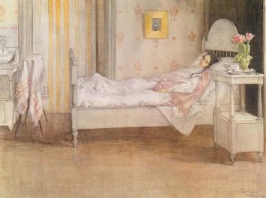 Carl Larsson - Carl Larsson, Convalescence