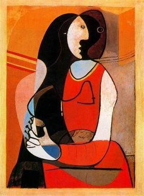 picasso-seated-woman