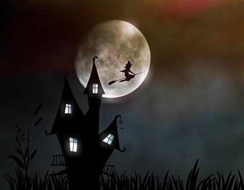 Creepy Halloween The Witch Moonlight Witch's House