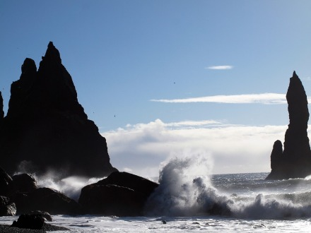 iseland våg, klippa