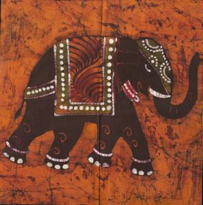 Indisk elefant, batik